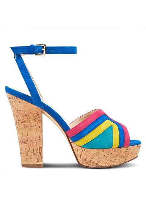 Nine West %100 Süet Klasik Ayakkabı Mavi
